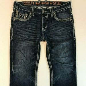 Rock Revival Mens Bruno Boot Jeans Size 38